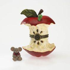 Amazon.com: Boyds Resin Apple Core Treasure Box with Cortland McNibble: Home & Kitchen