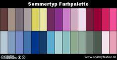 Infografik: Farbpalette Farben Sommertyp | Style my Fashion