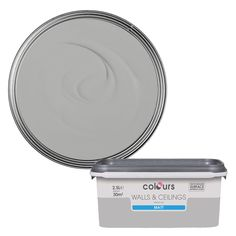 Colours Standard Platinum Silk Emulsion Paint - B&Q for all your home and garden supplies and advice on all the latest DIY trends Curtains With Blinds, Sheer Curtains, Teal Accents, Fake Flowers, Throw Cushions, Garden Supplies, Minimalist Home, Color Schemes, Room Decor