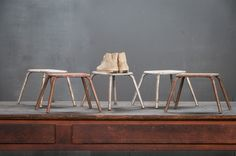 France, 1950s, Vintage Industrial Toulouse Display Stands / Stools.