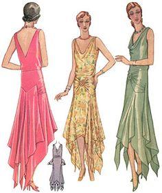 1920s evening dress pattern tessie-esque?