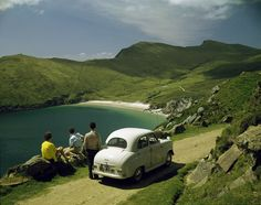 On the road to Keem Strand, Achill Island, Co. Mayo Ireland © John Hinde Collection / The Photographers' Gallery Nostalgic Images, London Look, Photography Exhibition, Ludwig, Color Photography, Photography 101, Vintage Photography, Old Pictures, Prints For Sale