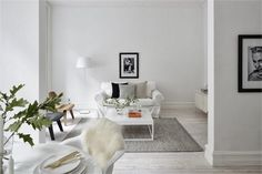 A serene white Malmö apartment, all white inspiration