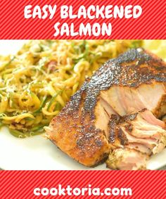 Perfectly seasoned, tender, and very easy to make, this Blackened Salmon makes a great dinner, worthy of a special occasion. Follow my step-by-step photo and video instructions and surprise your special someone with this elegant meal. FOLLOW Cooktoria for more deliciousness! If you try my recipes - share photos with me, I ALWAYS check!