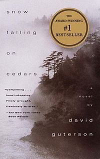 Snow Falling on Cedars by David Guterson. Join us for a discussion on Tuesday, June 3, 2013 at 10 am!