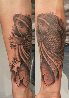 tattoo carpa, koi, dic 2012