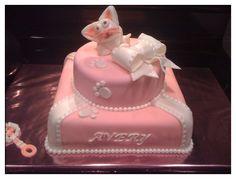 Lil girl 1st birthday kitten cake