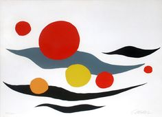 Who Is Alexander Calder | Alexander Calder, Composition with Clouds and Spheres