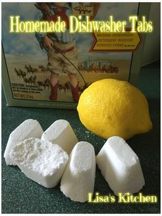 Are you like me and HATE spending so much money on these dishwasher tabs? Well here is an easy recipe to make them, and they work amazing :D This make 32 tabs. What you need 2 cups Baking so…