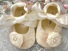 Baby Girl Shoes - I would buy these for my soon-to-be niece!