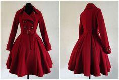 Red princess coat