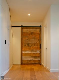 Sliding door with reclaimed wood | Modern Barn Remodel | Marin, CA