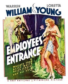 Window Card for pre-code film Employees Entrance