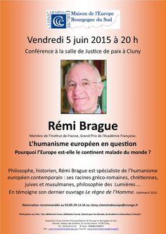 Conférence : L'humanisme en question, le 5 juin 2015 à Cluny.