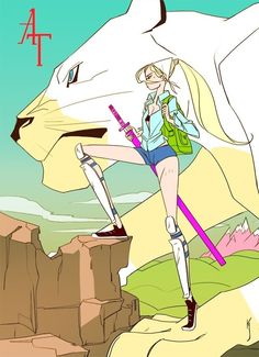 Interesting art style. Fionna the Human and Cake | Adventure Time with Fionna and Cake