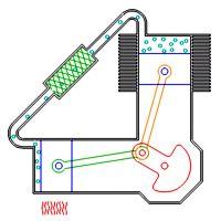 Resultado de imagen para Isometric view of Stirling Engine type alpha 4 pistons in series degrees between crankshaft pins image Stirling Engine, Automotive Engineering, Engine Repair, Small Engine, Wind Power, Steam Engine, Mechanical Engineering, Alternative Energy, Motor Car