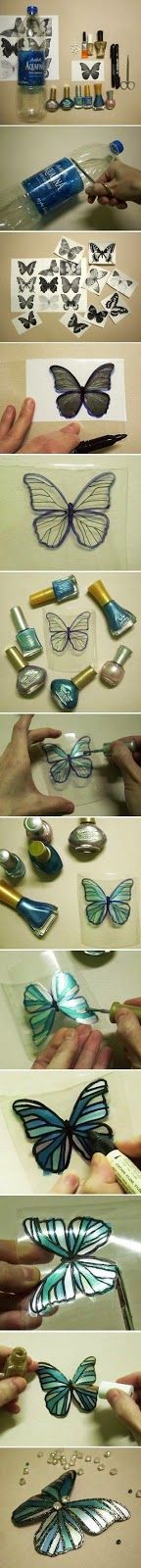 DIY Butterflies easy diy for the home crafty