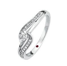 CHERISHED  Solitario oro blanco 14k con 10 puntos de diamante al centro y 10 puntos laterales  Precio boutique $8,500.00 Precio tienda online $7,650.00