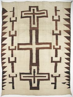 Navajo Transitional Textile with Crosses, c.1890