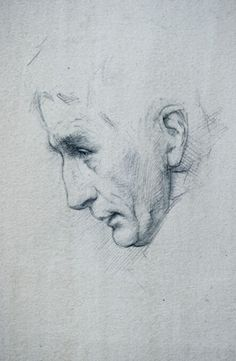 Charles Weed, Profile of Steffen, mixed media on paper, 2010