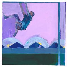 "Saatchi Art Artist Charlotte Evans; Painting, ""monkey bar SOLD"" #art"