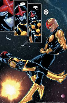 Nova's Richard Rider & Sam Alexander.