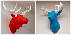 DIY Deer & Moos Wall Sculptures. Free Printable Templates!