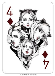 Playing Cards - Four Of Diamonds, Fashion Playing Cards by ConnieLim - playingcards, playingcardsart, playingcardsforsale, playingcardswithfriends, playingcardswiththefamily, playingcardswithfamily, playingcardsgame, playingcardscollection, playingcardstorage, playingcardset, playingcardsfreak, playingcardsproject, cardscollectors, cardscollector, playing_cards, playingcard, design, illustration, cardgame, game, cards, cardist