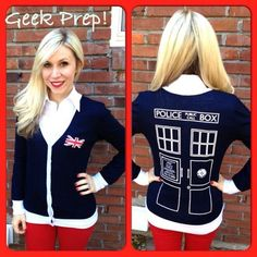 Coming Soon: The Tardigan, The 'Doctor Who' TARDIS Cardigan! OMG WANT WANT WANT