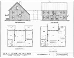 Colonial Saltbox House Plan 94007 Saltbox houses Bedrooms and House