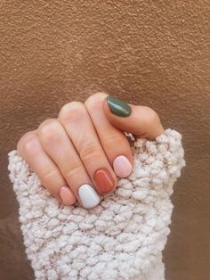 Fall nails roundup: cute manicure ideas to try this season - Mint Arrow - - Sharing ALL the fall nail inspo today! Whether you want a little cheetah print in your life, pumpkin spice, or all the fall colors, we have you covered! Diy Nagellack, Nagellack Trends, Manicure Y Pedicure, Manicure Ideas, Nail Tips, Manicure Colors, Nail Polish Colors, Dream Nails, Fall Nail Colors