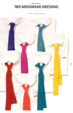 Today on periodicult.com: ties, in particular, brought out the mid-'80s man-style in me.