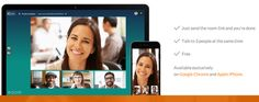 Instant three-party video-conferencing without downloads or logins: http://room.co