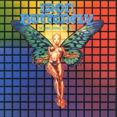 """""""Scorching Beauty"""" by Iron Butterfly, 'MCA' Records, LP, (1975) - Color Pencil and Airbrush On Board of Cover Artwork Illustration Album by Drew Struzan (b. 1947, American), Creative Director Ernie Cefalu ~ [Final Work]"""