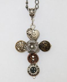 Had to pull the trigger on this ... antique button cross