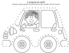 Crafts,Actvities and Worksheets for Preschool,Toddler and Kindergarten.Lots of worksheets and coloring pages. Tracing Worksheets, Preschool Worksheets, Pre Writing, Writing Skills, Motor Activities, Activities For Kids, Kids Crafts, Transport Routier, Transportation Theme