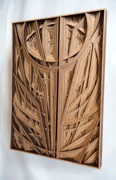 Amazingly Intricate Laser-Cut Wood Relief Sculptures by Gabriel Schama - My Modern Met