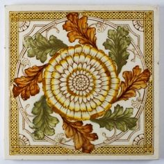 Trim around and in bay window. Victorian Aesthetic Movement - 1890 - Ceramic Tile