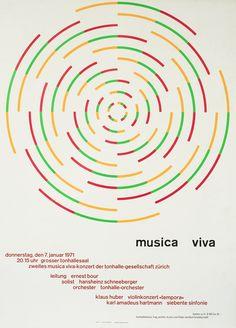 Musica Viva January 7, 1971 by Muller-Brockmann, Josef | Shop original vintage music posters online: www.internationalposter.com