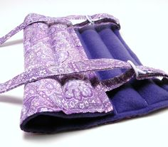 Heat Pack Knee Wrap, Elbow Arm Microwave Heating Pad, purple paisley. $28.95, via Etsy.