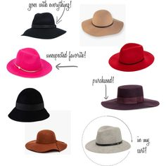"Hat Wish list for the fall!! ""Le Chapeau"" by Chic Boston Mama"