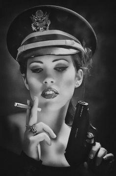 pinterest.com/fra411 #girl #gun