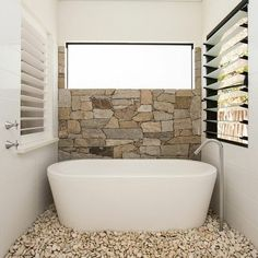 33 ides sublimes pour une salle de bain en pierre brute