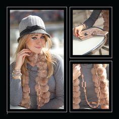 onze top favoriet deze winter: bont sjaal in nude pink
