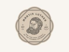 Martin Luther Badge  Timotheus #27 by Peter Voth #Design Popular #Dribbble #shots