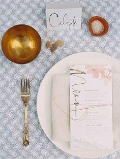pretty menu and place card