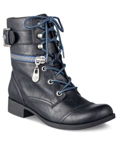G by GUESS Women's Booties, Brixxy Combat Booties Women's Shoes