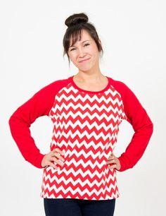 Schnittmuster Freebie - Sweatshirt mit Raglanärmeln zum Selbernähen in Gr. 32 bis 54