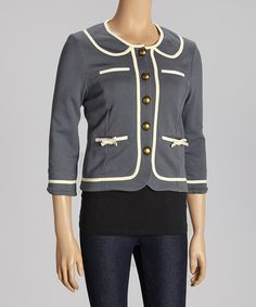 Look at this #zulilyfind! Knitted Dove Gray Golightly Jacket by Knitted Dove #zulilyfinds