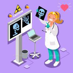 Cartoon Images, Cute Cartoon Wallpapers, Cartoon Styles, Medical Memes, Medical Icon, Hospital Cartoon, Radios, Purple Flowers Wallpaper, Radiology Humor